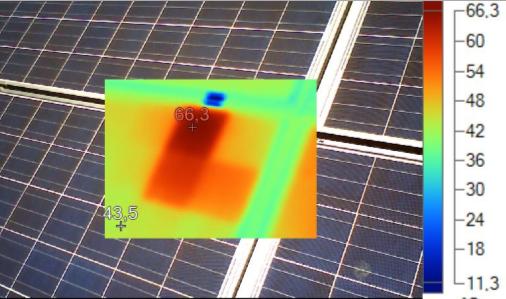 Hotspot Solarzelle